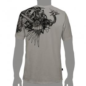 """T-Shirt PlazmaLab """"Ostrich"""" Light Grey"""