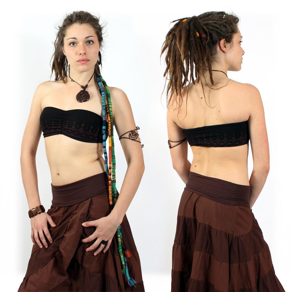 """Boob Tube"" strapless bra, Black"
