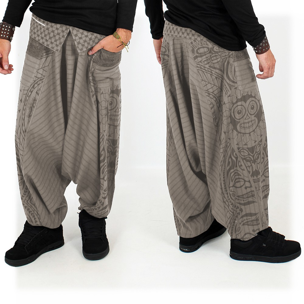 """Necka"" harem pants, Steel"