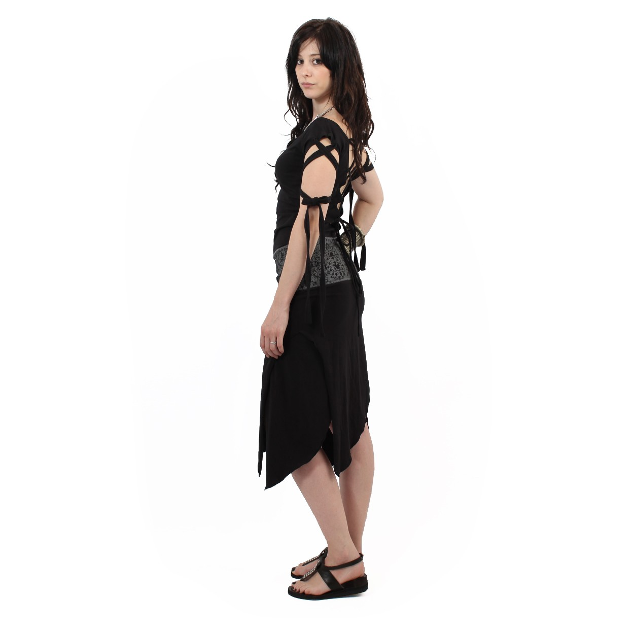 """Monroe Remix"" long dress, Black"