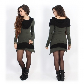 """Onesa"" long sleeved dress, Khaki"