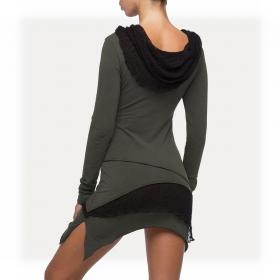 """Onesa"" long sleeved dress, Khaki green"