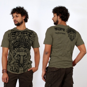 """Bali Dragon"" T-shirt, Khaki green"
