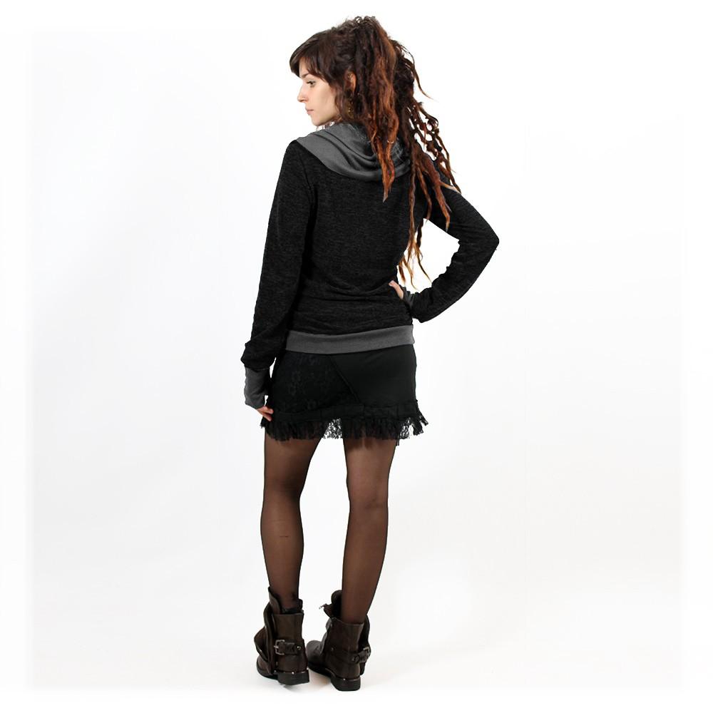 """Janjira"" pullover, Black Darkgrey"