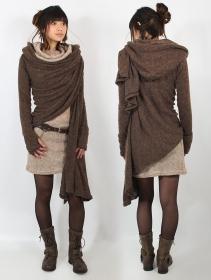 """Danaeriz"" long sleeve shawl, Brown"