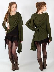 """Danaeriz"" shawl, Khaki green"