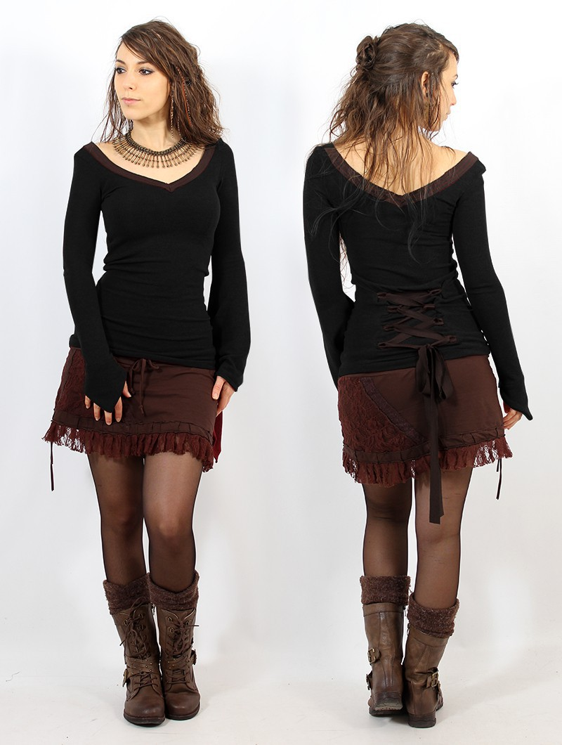 """Eo-Lüne"" pullover, Black and brown"