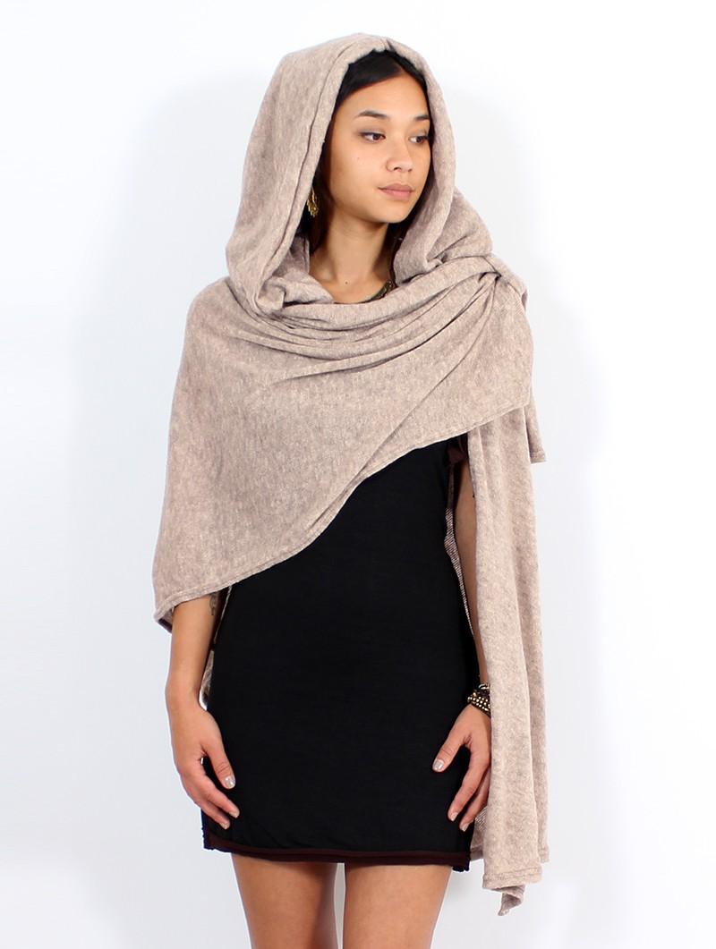 """""""Danae"""" hooded cape, Beige"""