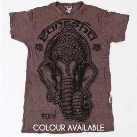 """Ganesh face"" t-shirt, Taupe"