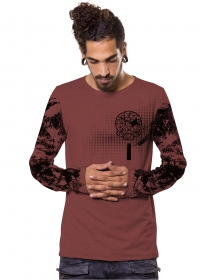 """Gunzerker"" Long sleeved shirt, Wine"