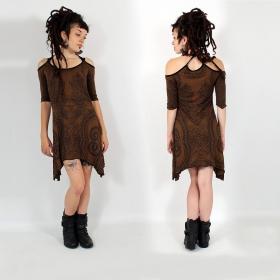 """Diana Paisley"" dress, Brown"
