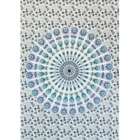 """Badmeri 05"" mini hanging, White and Blue"