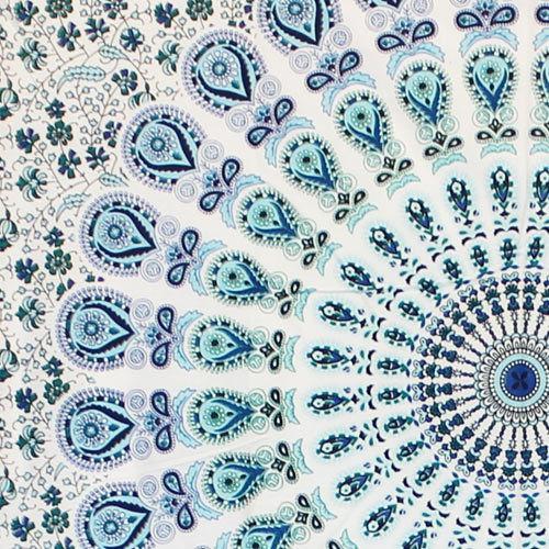 """Badmeri 05"" mini hanging, White and Blue"