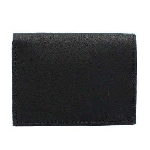 Leather card holder, Black