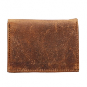 Leather card holder, Brown