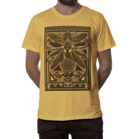 """""""Queen B"""" t-shirt, Mustard"""