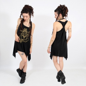 """""""Ganesh"""" knotted tunic, Black and gold"""