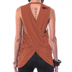 """All over Serpent"" tank top, Orange"