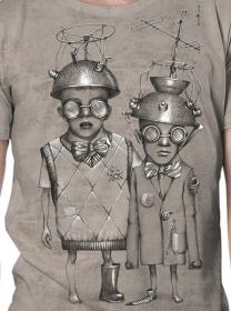 """""""Little bro"""" t-shirt, Mottled beige"""