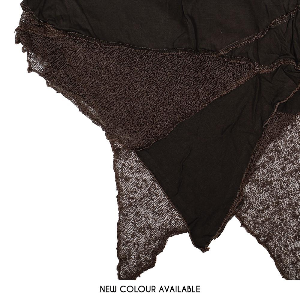 """Gitane patch"" skirt, Brown"