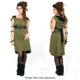"""Liskä"" short dress, Khaki green"