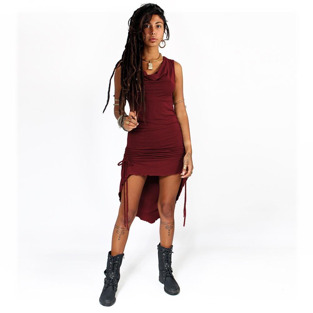 """Lychandra"" long dress, Wine"