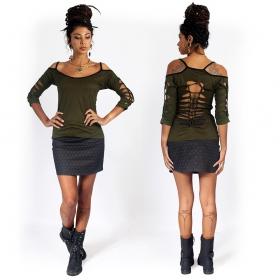 """""""Ishtar Flower of Life"""" skirt, Black"""