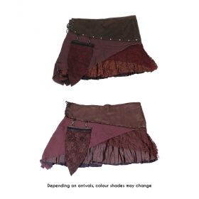 """Multi"" skirt, Plain brown"