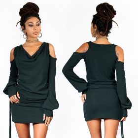 """Elixir"" sweater dress, Teal"