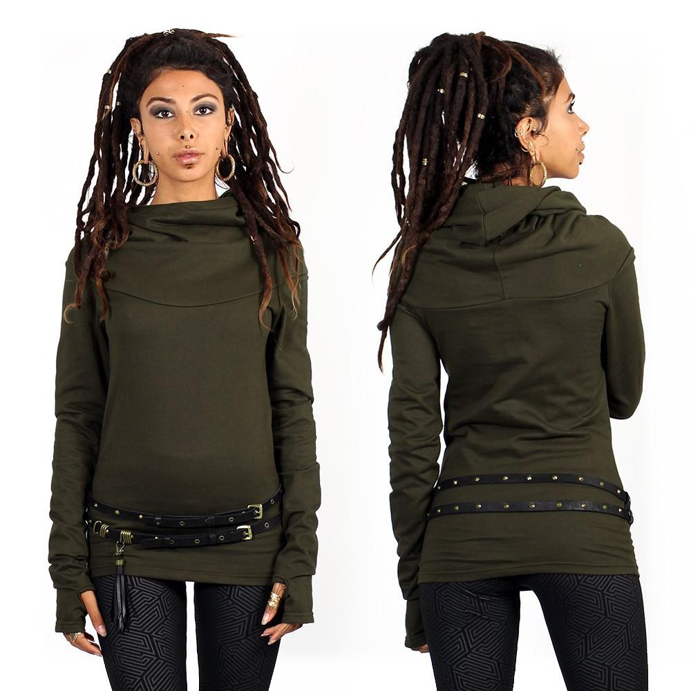 """""""Najiya"""" hoodie, Khaki green"""