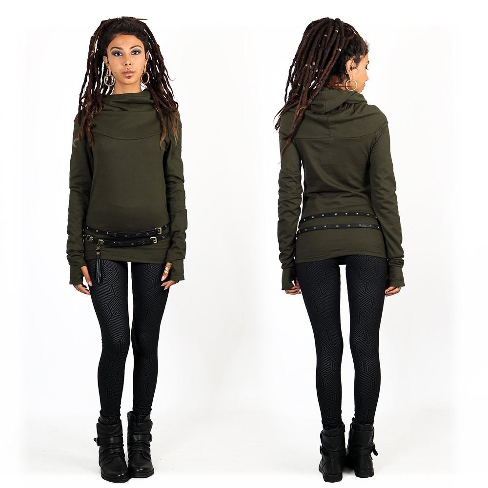 """Najiya"" hoodie, Army green"