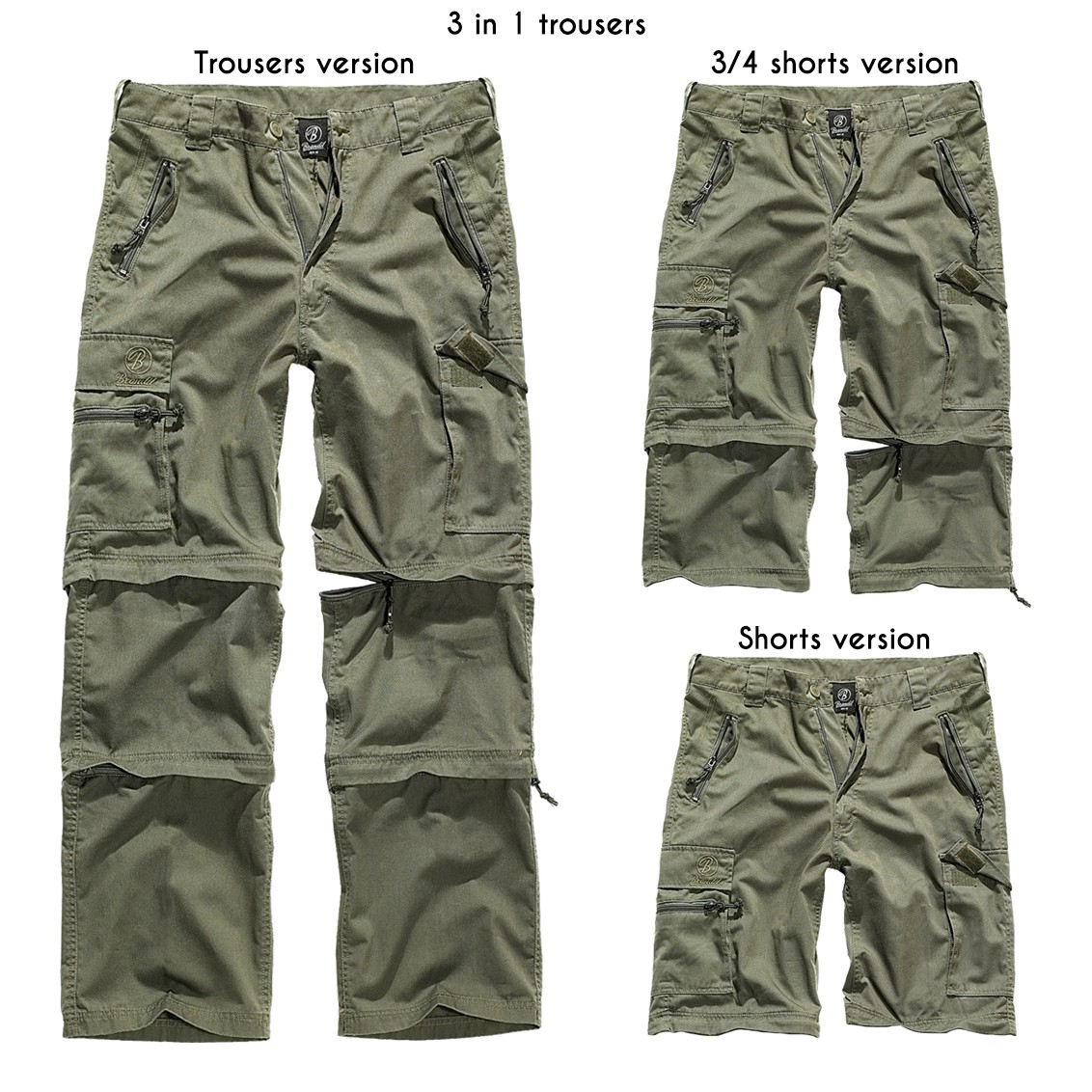 """Savannah Cargo"" 3in1 combat trousers, Khaki green"