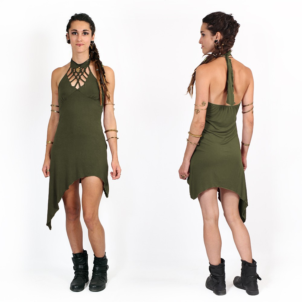 """Akanksha"" tunic dress, Army green"