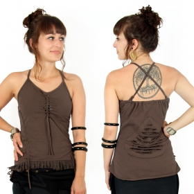 """Sukho"" top, Brown"