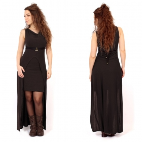 """Azeälya"" long dress, Brown"