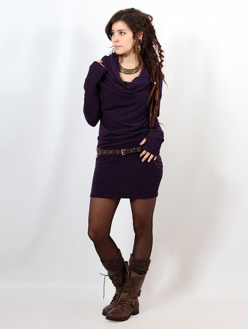"""Kali"" sweater dress, Purple"