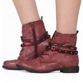"""Unyen"" boots, Raspberry"
