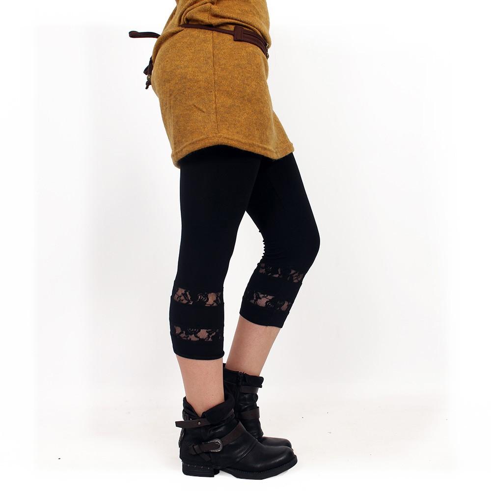 """""""Lï-Noeë"""" leggings, Plain black"""