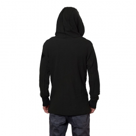 """Token"" zipped sweater, Black"