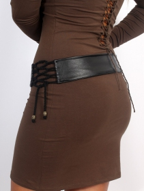 """""""Oleyäa"""" belt, Black faux leather"""