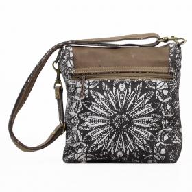"""""""Jahanara"""" bag, Dark grey and brown"""