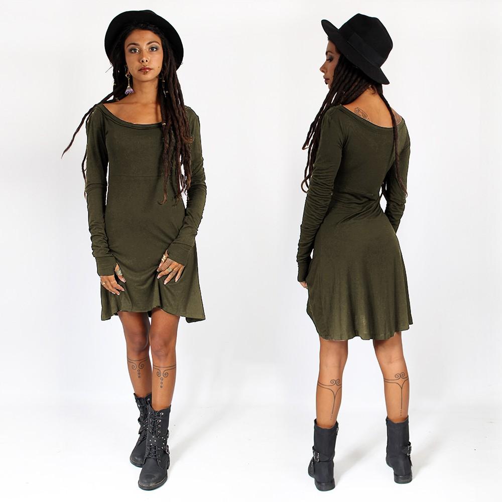 """Ysïaa"" dress, Khaki green"