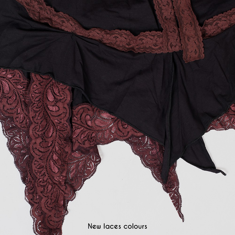 """Liloo """"Nehelenia"""", Black with brown lace"""