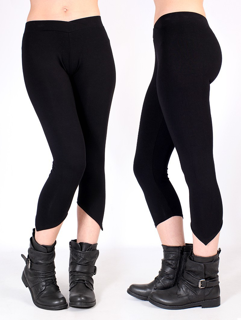 """Shayäa"" pointy leggings, Black"
