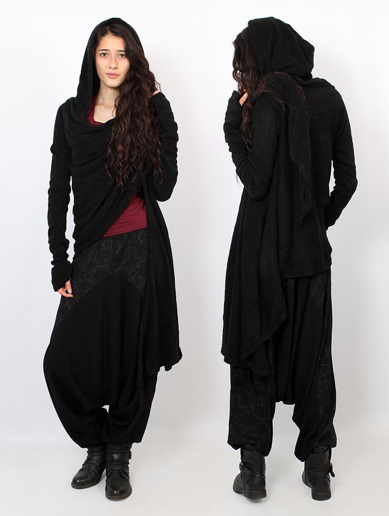 """""""Danaeriz"""" shawl, Black"""