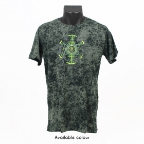 """Psychotoad"" t-shirt, Acid wash olive"