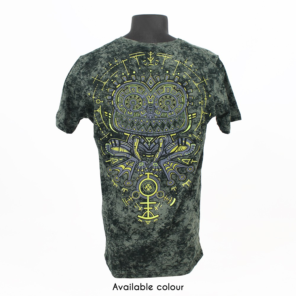 """Psychotoad"" t-shirt, Acid wash olive"
