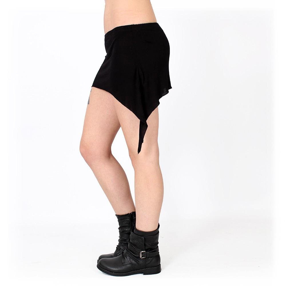 """Double Pointed"" mini skirt , Black"