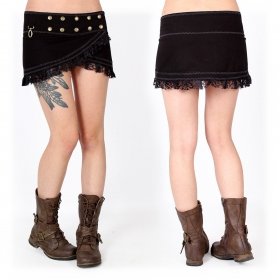 """Funky wrap"" skirt, Black"