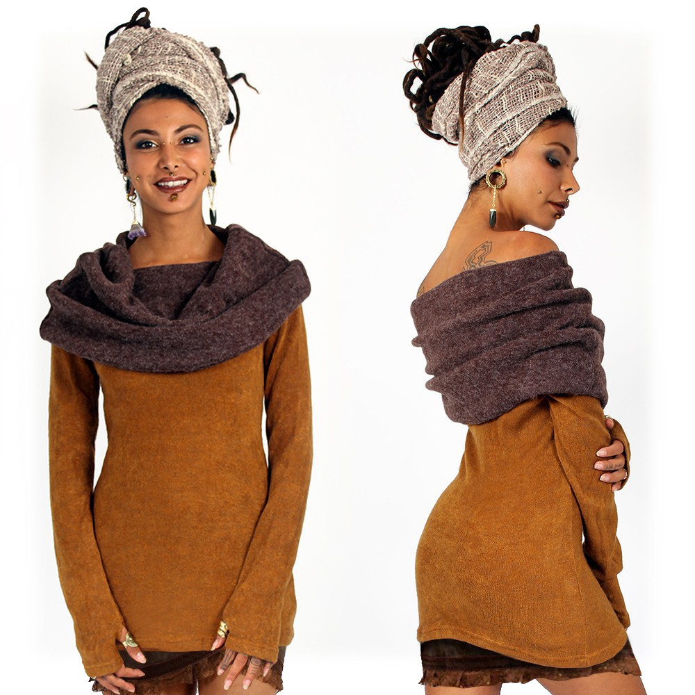 """Mantra"" pullover, Rusty and brown"